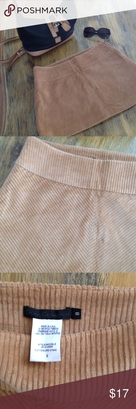 """Guess Collection  90s Vintage Corduroy Mini Skirt New Without Tag ♦ Tan color Corduroy Mini by Guess ♦ Fully Lined ♦ Waist 30"""" . Length 30"""" ♦  Side Zipper Closure ♦ Please check the measurements . Guess Skirts Mini"""