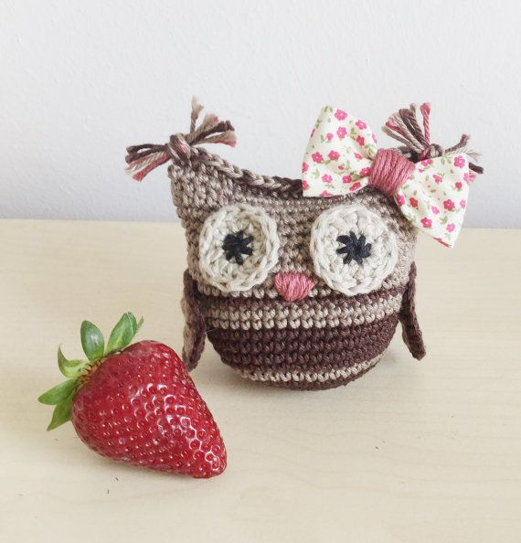 Handmade crochet amigurumi owl family от ZoZooCrochet на Etsy