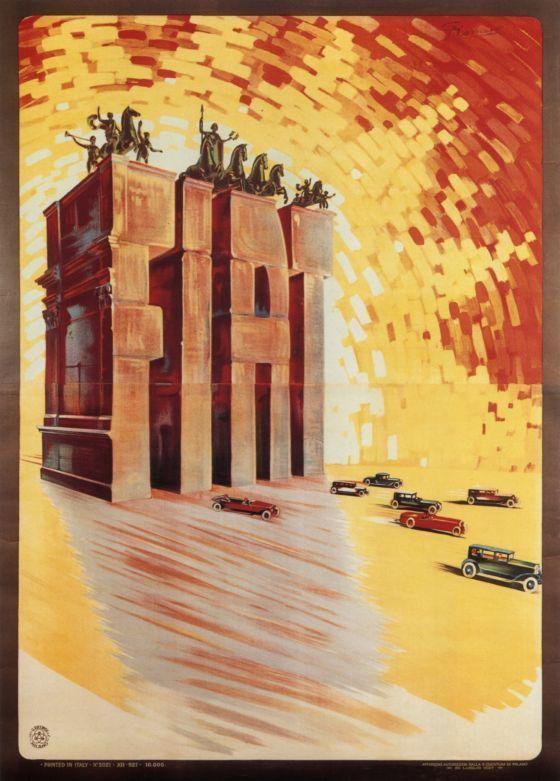 Fiat Leopoldo Metlicovitz Vintage Car Poster VAP002 Art Print Canvas A4 A3 A2 A1