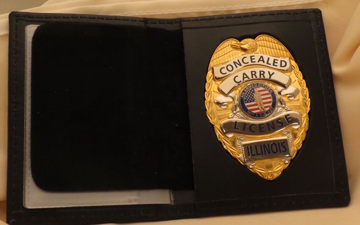 Other Hunting Holsters and Belts 22701: Concealed Carry License Flat Badge And Badge Case Illinois Gold Color -> BUY IT NOW ONLY: $40 on eBay!