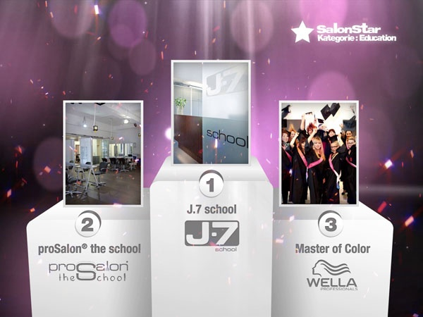 "Hier sind sie, Eure ""Hairdressers most voted"" die SalonStars 2013 in der Kategorie Education:    1. J.7 school   2. proSalon® the school   3. Master of Color  - Wella Professionals"