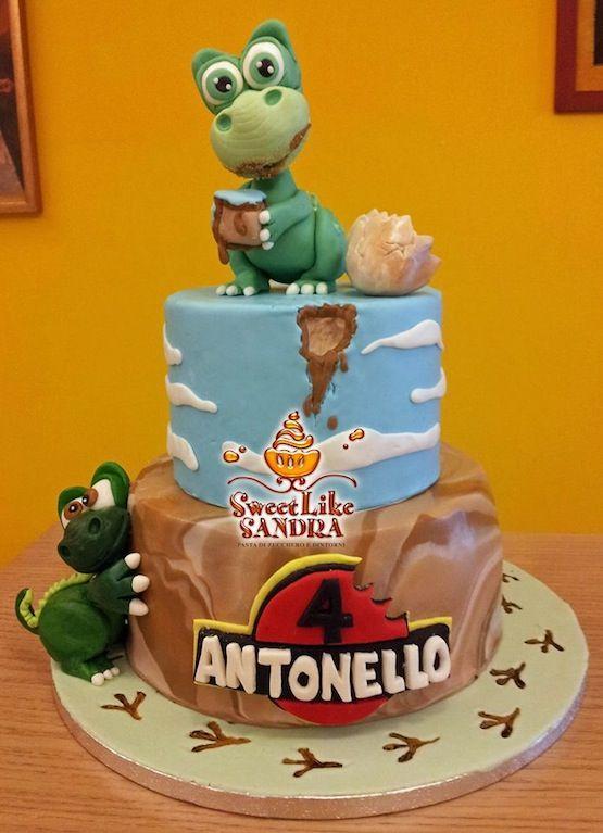 Torta Il treno dei Dinosauri – Cakemania, dolci e cake design