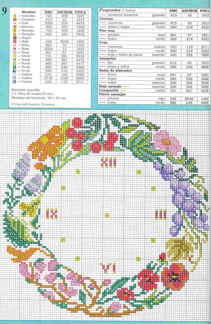 Flower Garden Clock + key