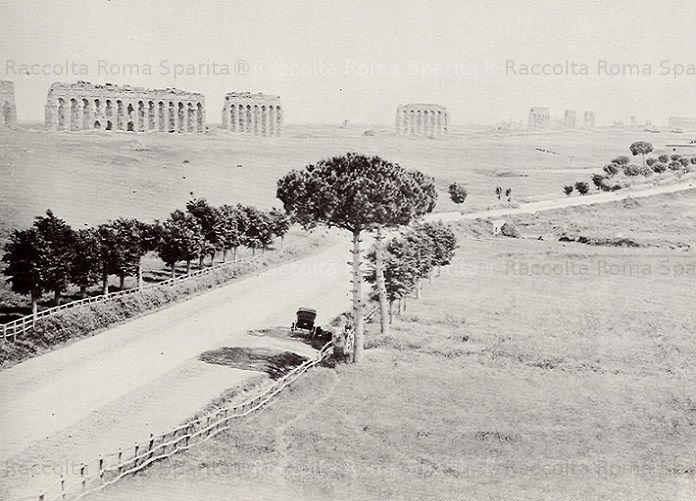 Via Appia Nuova e Acquedotto Claudio Anno: 1878