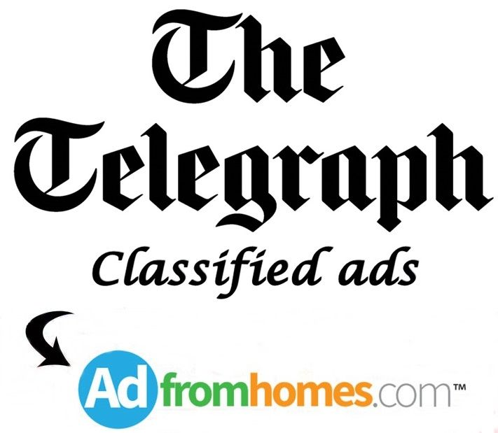 Telegraph is the most popular English language daily newspaper commanding the largest readership in West Bengal and North Eastern region. So place classified ads in Telegraph through online at Adfromhomes.com, to book Telegraph classified ads visit at: http://www.adfromhomes.com/telegraph-newspaper-classified-ads