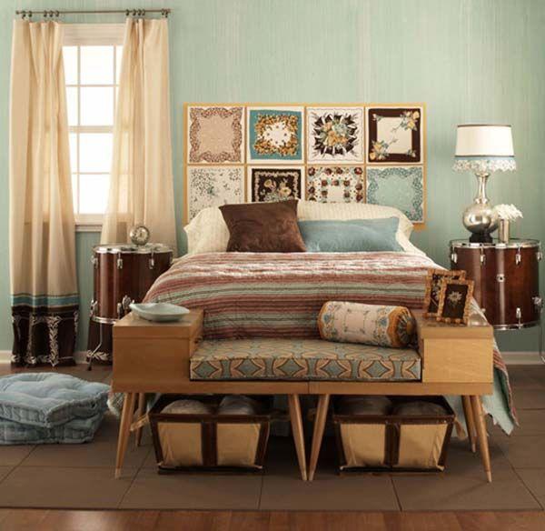 retro bedroom designs with pastel color scheme