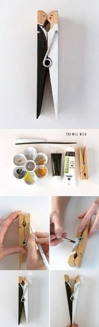 Haha DIY clothespins