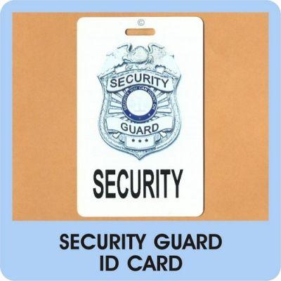 security guard card   Security Guard ID Card