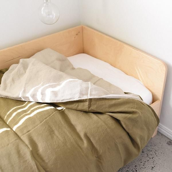 olive and natural single duvet cover