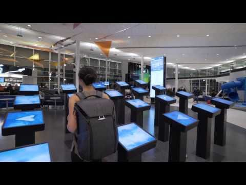 Air Transat, Moment Factory Team Up On Experiential Kiosks At Montreal's Main Airport | Sixteen:Nine