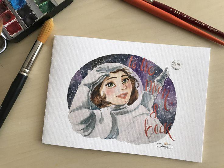 "Libreta ilustrada  ""to the moon & back"" de luciaILUSTRACION en Etsy"