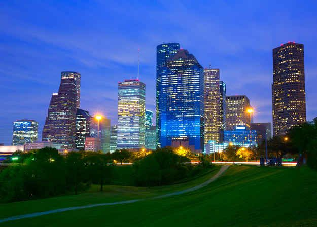 And you believe that Houston is the greatest city in the world, and you would never want to go anywhere else!
