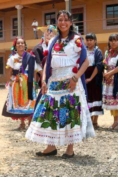 Traje Regional Purépecha, Michoacán, México.