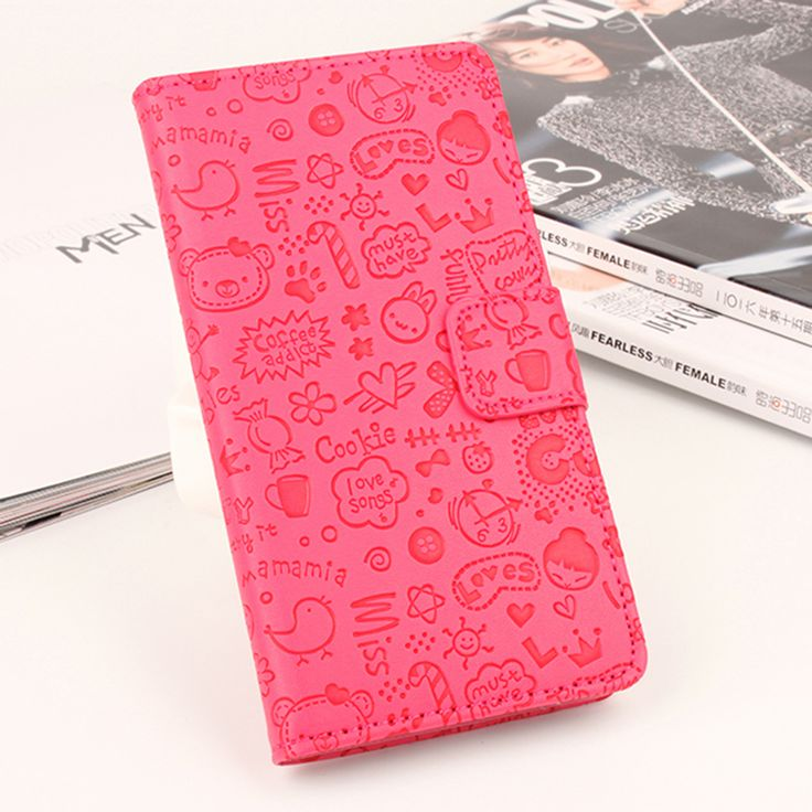 >> Click to Buy << Cute Cartoon Case For Asus Zenfone 2 5.5inch Flip Leather Pink Phone Cases for Asus Zenfone 2 5.5inch Wallet Stand Card Holder #Affiliate