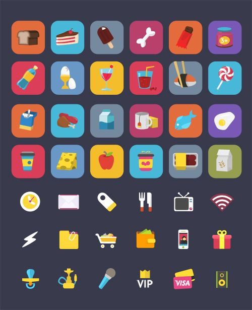 Free Set Colorful Ficons Icons (42+ Icons) #freepsdicons #vectoricons #flaticons #outlineicons #uiicons