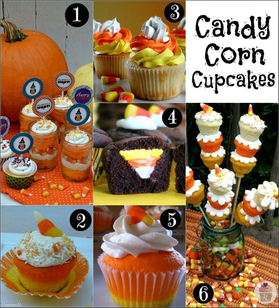 31 fun ideas for Candy Corn Cupcakes, Treats, Cookies, Decorations and Crafts :: HoosierHomemade.com
