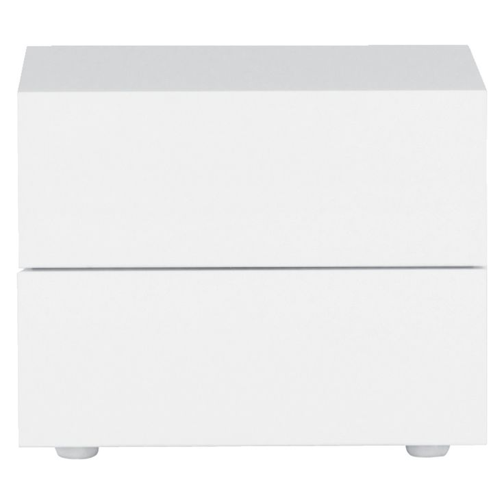 PEROUSE White 2 drawer bedside table 60cm width W60 x H48 x D50cm  Sale to £225 each.  White gloss