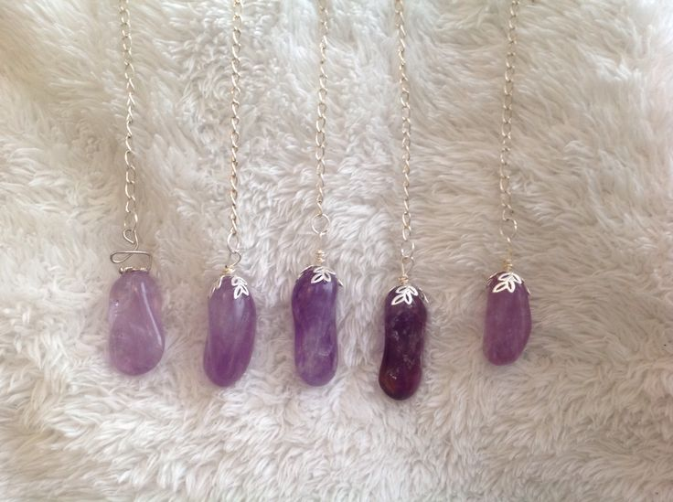 Amethyst pendulums I made!