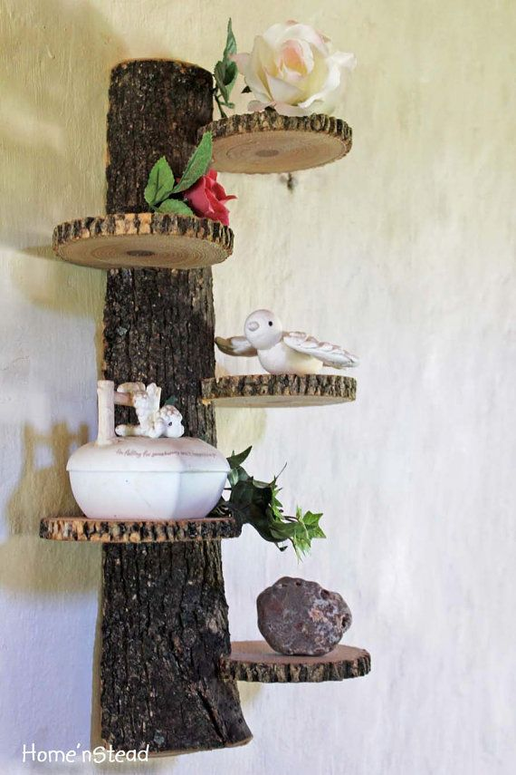 Rustic Shelf Tiered Trophy Trinket Stand Display Rustic Home Decor via Etsy