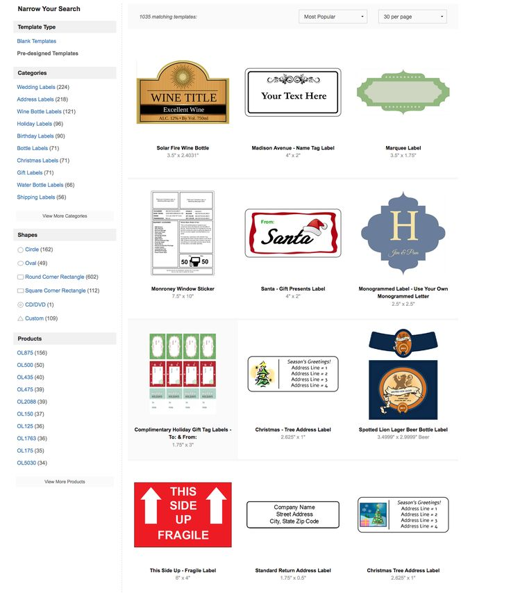 Wine bottle labels, moving box label, garage sale sticker templates - all available to download free