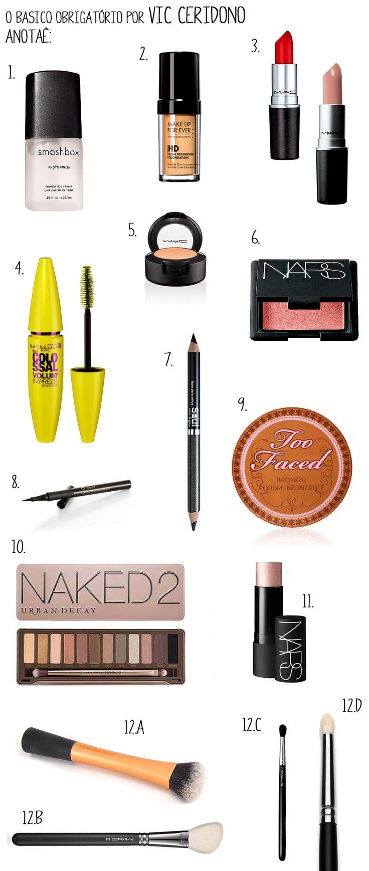 Quer montar um kit básico de maquiagem?