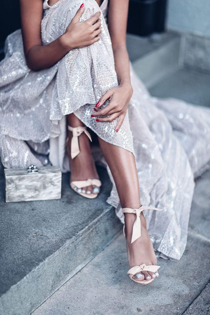 Nude Lace | Alexandre Birman Clarita leather sandals | Annabelle Fleur, VivaLuxury