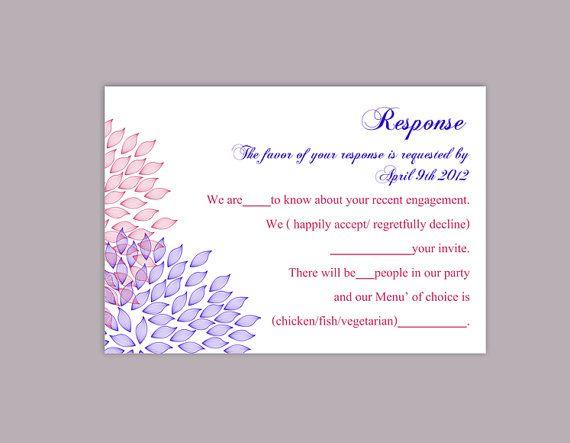 25+ ide terbaik DIY wedding rsvp cards di Pinterest - postcard template for word
