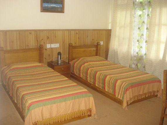View of Cottage at Teen Taley Eco Garden Resort, Rumtek, Sikkim.