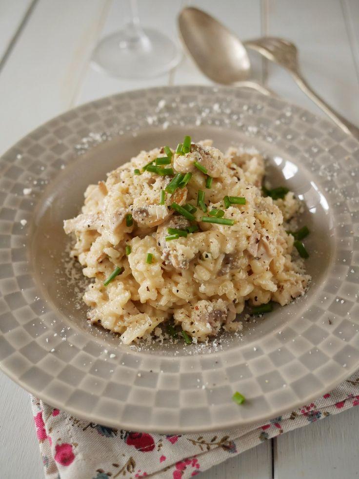 Risotto au poulet et champignons - Blog de cuisine créative, recettes / popotte de Manue