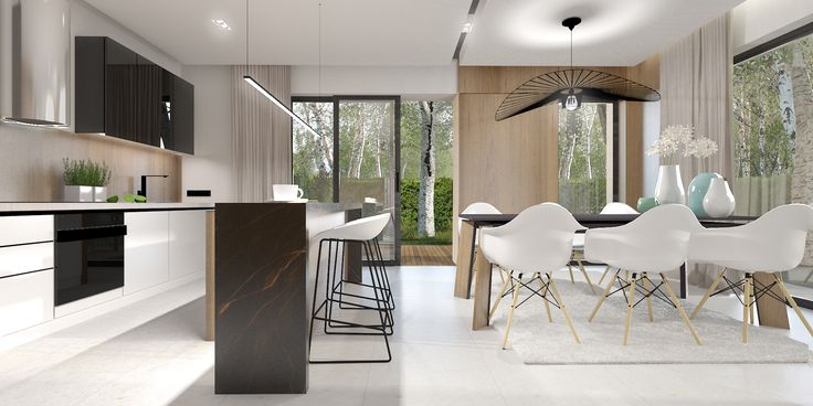 Projekt aranżacji wnętrza budynku mieszkalnego. / The apartment interior design.