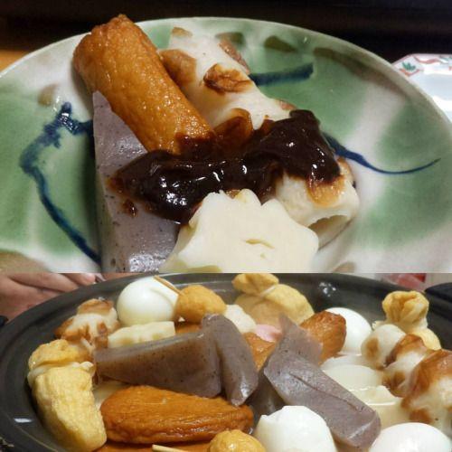 クリスマスおでん(;) 我が家は関西風と名古屋風のミックスです夫の作る味噌だれが美味しい