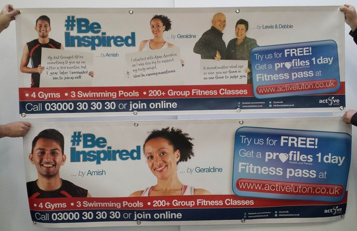 A Gym/Fitness PVC Banner