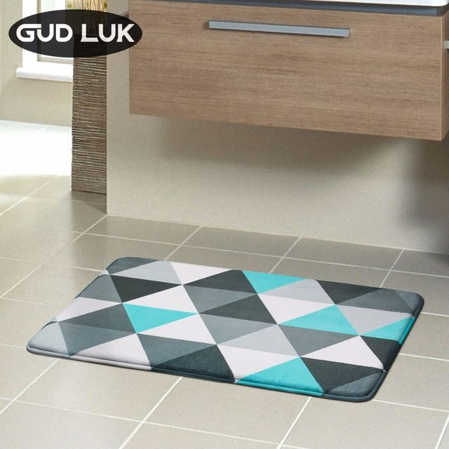 New 5 Different Styles Bath Mat Memory Foam Rug Sponge Non Slip