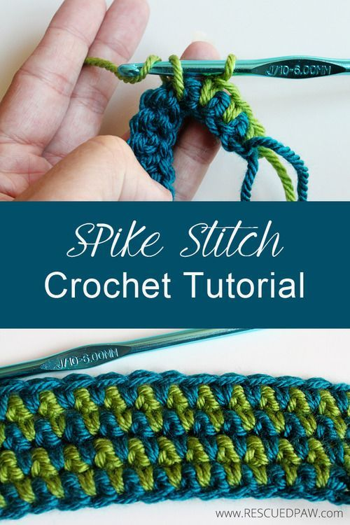 How to Make a Spike Stitch in Crochet From Rescued Paw Designs #diy #tutorial #pattern