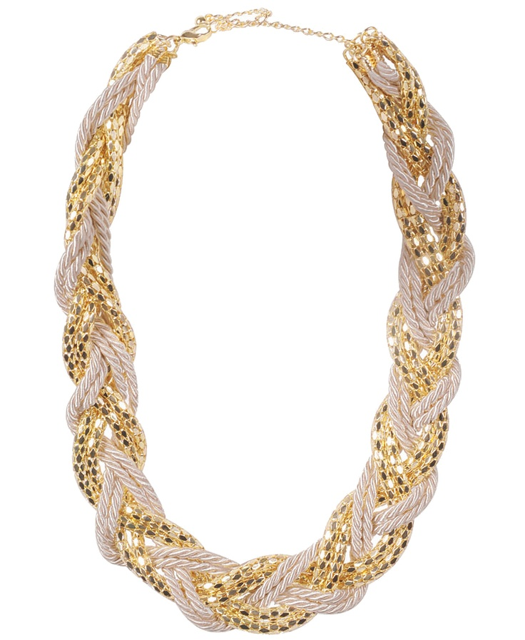 Braided Rope And Serpentine Necklace: Necklace 8 80, Solid Colors, Serpentine Necklace, Skinny Rope, Final Pizzaz