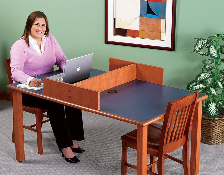 "DEMCO's Liberation line provides traditional library furniture you can count on to be affordable as well as durable. This table is available in rectangular, square and round versions. Its apron-less style allows for more leg room and meets ADA requirements. For added stability the legs are securely attached to a 5"" square steel plate and…"