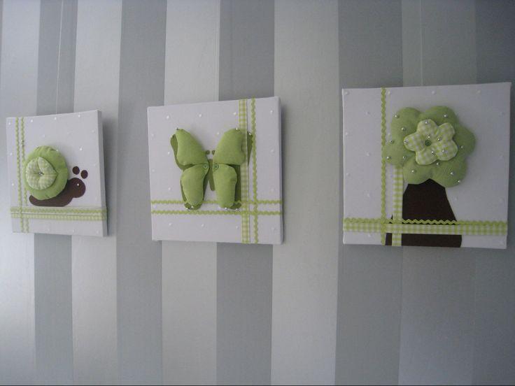 25 best ideas about stof schilderijen op pinterest doe het zelf kussens stof bedrukking en - Babykamer schilderij idee ...