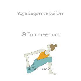 revolved low lunge pose variation 1 yoga parivrtta