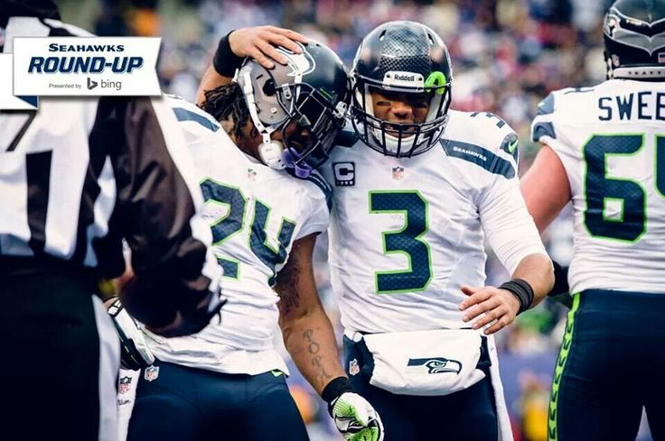 Marshawn Lynch and Russell Wilson