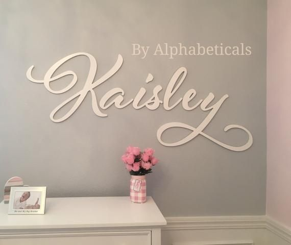 Alphabeticals Nursery Name Sign Girl Boy Custom Wooden Letters for Wall Decor Over Crib Baby Name Signs for Nursery Wall Letters Madilynn