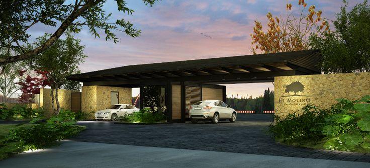 Render de entrada terreno residencial en venta en for Jardines residenciales