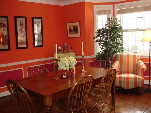 I love an orange room