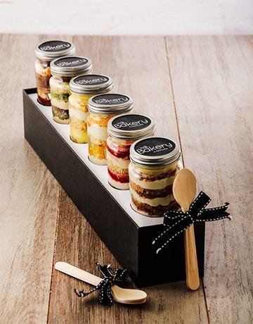 6 Sunshine in a Box Cupcakes in a Jar Combo