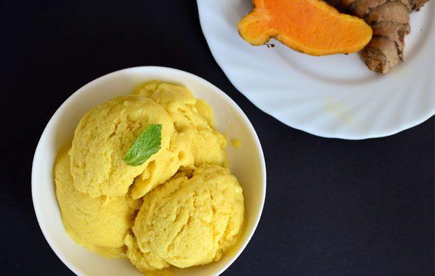 Raw Turmeric Ice Cream