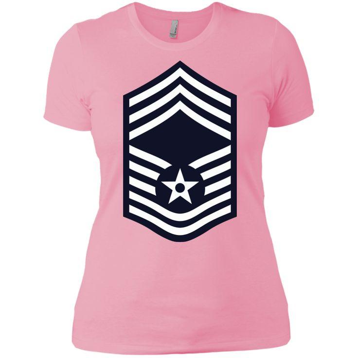 Air Force Chief Master Sergeant Rank Next Level Ladies' Boyfriend Tee