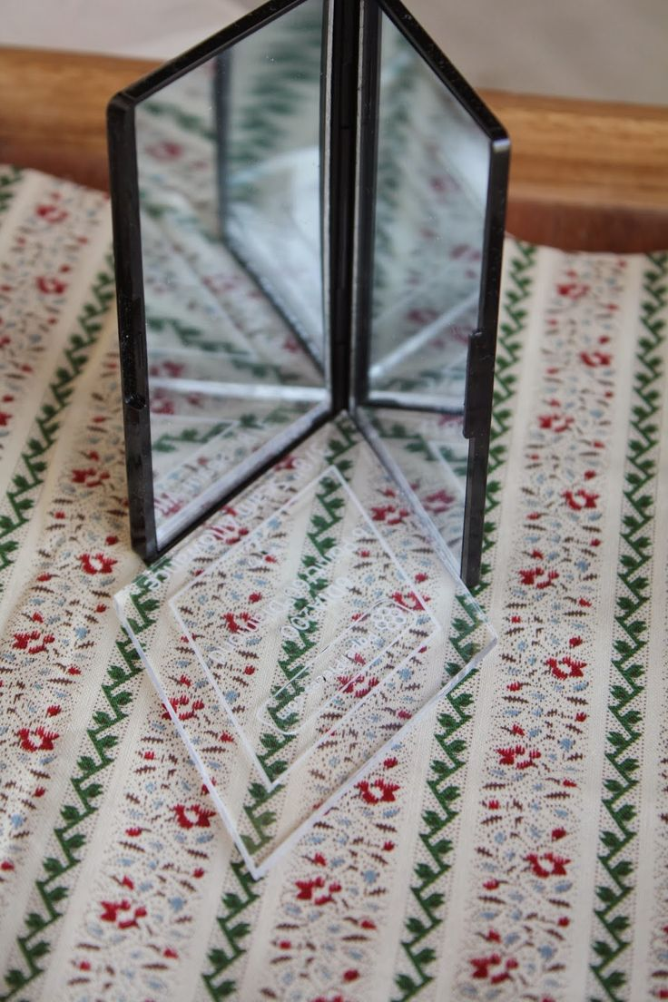 Temecula Quilt Company: Use a mirror to see how your pieces will look when sewn together