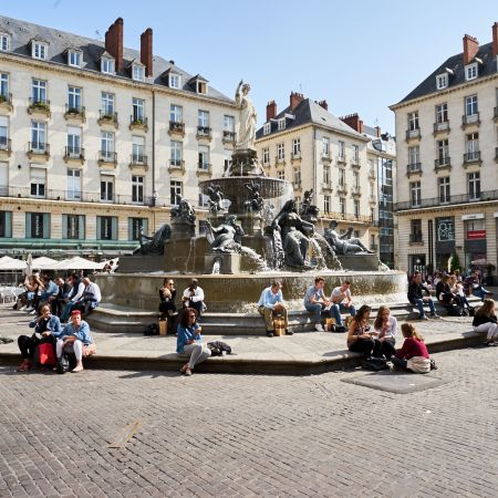 """Fountain at """"Place Royal"""", Nantes France"""