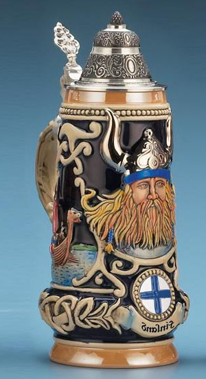 FINLAND VIKING STEIN - Authentic Beer Steins from Germany - 1001BeerSteins.com