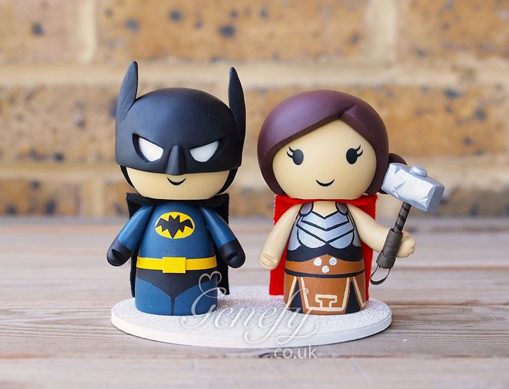 Batman And Thor Bride Wedding Cake Topper By Genefyplayground Https Www Facebook
