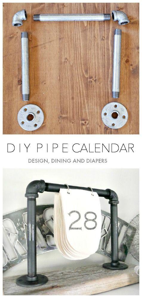DIY Industrial Calendar using galvanized pipes!